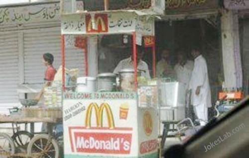 funny McdDonald's in Iraq