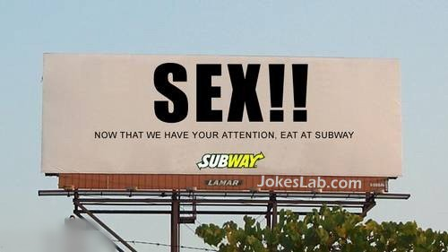 funny sex sign for Subway