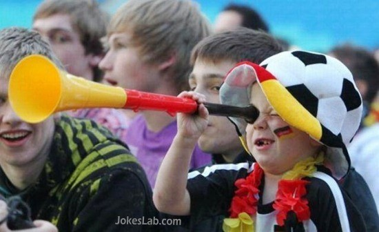 funny young German football fan