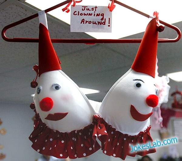funny Japanese bra, clown