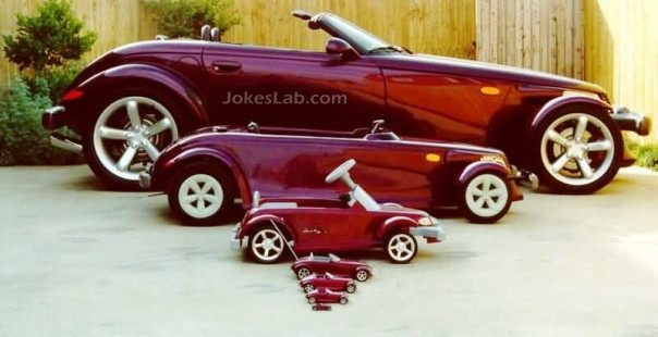 funny car family for a big family