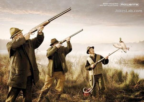funny Rowenta ad, kill the bird