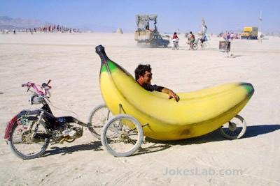 funny car, banana car