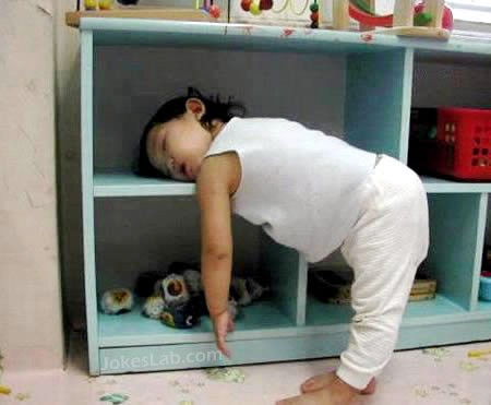funny sleeping kid