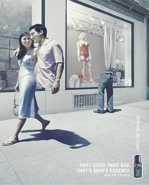 funny ad, man
