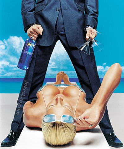 funny Skyy Vodka ad, how to get a woman